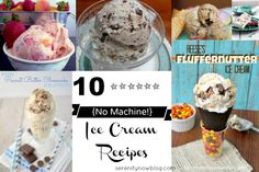 Ice Cream Recipes without a Machine!