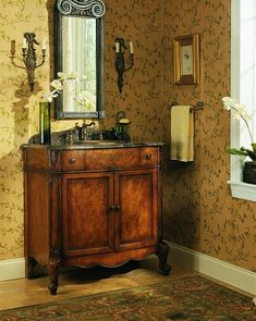 antique chest of drawers - Bing Images  Love this idea for the bathroom.