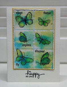 StampingMathilda: Darkroom Door - Fine Butterflies #2