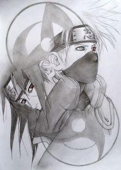 you'r my only one: Photo Naruto Sketch Drawing, Anime Boy Sketch, Naruto Drawings, Anime Drawings Sketches, Kakashi Drawing, Naruto Shippuden Anime, Naruto Art, Itachi, Boruto