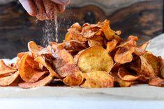 Homemade BBQ Sweet Potato Chips I howsweeteats.com