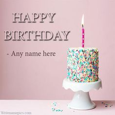Happy Birthday Latest Greeting Cards With Name For Free Noor Wishes