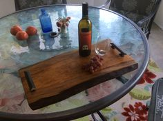 Cherry live edge serving tray