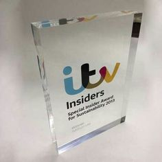 Our acrylic and perspex awards fuse clean lines and high quality graphics to produce elegant and stylish bespoke awards. View more at www.creativeawards.co.uk