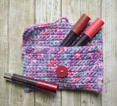 Easy Crochet Pouch By Cindy - Free Crochet Pattern - (skiptomylou)