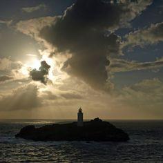 Godrevy Lighthouse - Sunset (Square) -Stag Sunset-Photo byGeorge Wheelhouse