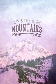 IT´S BETTER IN THE MOINTAINS Metal Plate Print