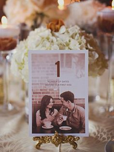 Le date del vostro amore #wedding #table #name #decoration