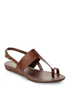FRANCO SARTO Brown Dilana Sandals
