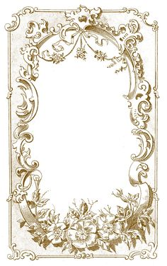 Decoupage Digital Frame Image - Ornate European - The Graphics Fairy Images Vintage, Vintage Frames, Vintage Prints, Graphics Fairy, Vintage Paper, Vintage Art, Vintage Stuff, Motif Art Deco, Printable Frames