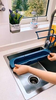 Kitchen Sink Design, Modern Kitchen Design, Diy Kitchen, Kitchen Interior, Kitchen Decor, Cool Kitchen Gadgets, Home Gadgets, Cool Kitchens, Home Organization Hacks
