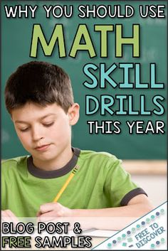 Are You Looking For A Way To Help Your Middle School Math Students Develop A Strong Number Sense? Allowed To Discover Math Skill Drills Are An Excelle. Special Education Math, Elementary Education, Philosophy Of Education, 7th Grade Math, Math Skills, Math Lessons, Math Facts, Number Sense, Math Classroom