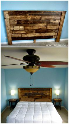 King-Sized Pallet Headboard  - 40 Pallet Headboard Ideas to DIY for Your Beds - DIY & Crafts