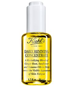 Kiehl's Daily Reviving Concentrate is similarly (and pleasantly) thin, with a bright scent that comes from ingredients like ginger oil and anti-inflammatory tamanu oil. It will be in stores in September, as a daytime companion to Kiehl's Midnight Recovery Concentrate.