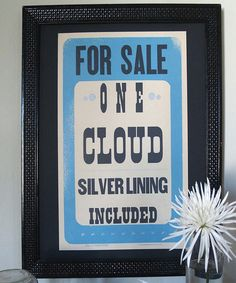 'For Sale' Cloud Print | Daily deals for moms, babies and kids