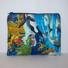 PouchAPalooza.com - Pipe Pouch Ocean Life Pipe Case Pipe Bag Sea Bag Padded