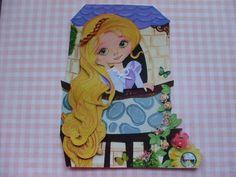 Tangeled Girl Premade Paper Piecing Scrapbook Album Pages Disney Princess   eBay