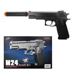 spring m24 silenced pistol fps300 airsoft gunAirsoft Gun -- Read more at the image link.