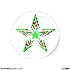 green star classic round sticker