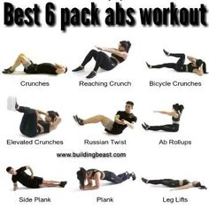 Abs And Cardio Workout, All Body Workout, Gym Workout Videos, Gym Workout For Beginners, Abs Workout Routines, Gym Workouts, 6 Pack Workout, Tabata, Workout Exercises