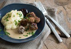 Svenske Köttbullar med kartoffelmos og sauce– 4 personer