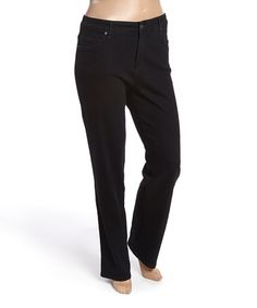 Look what I found on #zulily! Saturated Black Mandie Straight-Leg Jeans - Plus #zulilyfinds