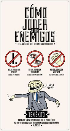 Affirmative and negative tu commands with irregulars. Cómo joder a tus enemigos Me Quotes, Funny Quotes, Journal Questions, Quotes En Espanol, The Ugly Truth, Spanish Quotes, Life Motivation, Wise Words, Just In Case