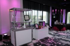 Liquid nitrogen gelato bar and matching espresso bar for events.