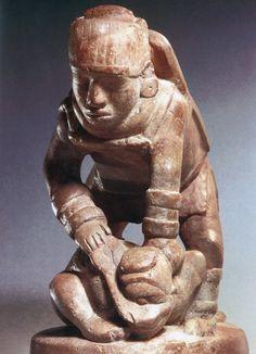 Stone effigy pipe. Spiro Mound. Eastern Oklahoma. Caddoan Mississippian culture, 800–1450 A.D.