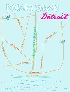 Detroit Fantasy Subway Map Wonderful Maps Pinterest Subway Map - Detroit usa map