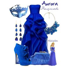 """Aurora Masquerade"" by cheshirehatter on Polyvore"