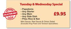 Go Crazy for the Tuesday and Wednesday Special!