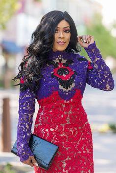 Color block dress | Lace | Lace dress