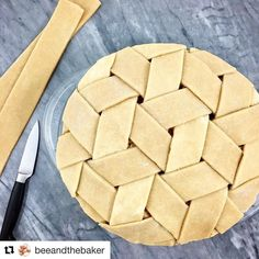 "Whatever youre doing right now can wait: go to @beeandthebaker to see how she wove pie crust into a triaxial lattice. She just posted a video of it and the baked pie is being mailed to my house right now! Thanks Natalie! Repost @beeandthebaker This ""tumbling blocks"" weave has me dizzy! Stay tuned for a video of how I finagled this lattice!"