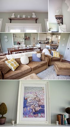 home made lovely | Life Made Lovely. love this color scheme. esp. the color of the couches.
