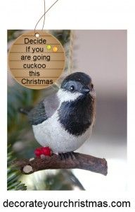 christmas cuckoo clock for the wall.Are you going cuckoo this Christmas?