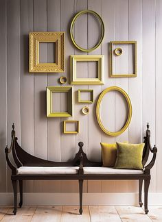 paint those frames white or silver on a black wall... and I would be in LOVE!