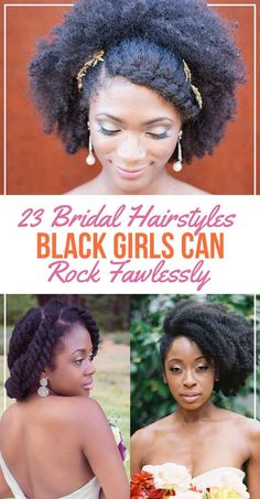29 Bridal Hairstyles Black Girls Can Rock Flawlessly- not just for brides! ~African fashion, Ankara, kitenge, African women dresses, African prints, African men's fashion, Nigerian style, Ghanaian fashion ~DKK
