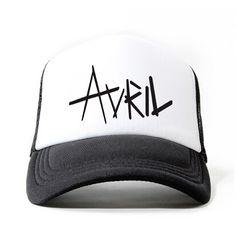 Avril Lavigne black baseball caps for youth summer trucker cap