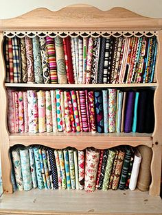 How to properly store your fabric stash and other storage tips