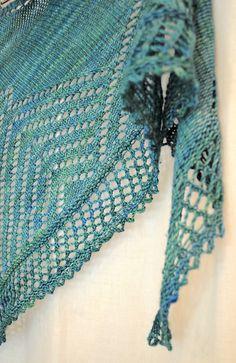 Randerscheinungen pattern by Maria Steiner. malabrigo Sock in Solis colorway.