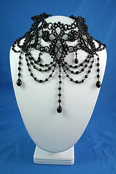 dee9fdfd85612 78 Best Gothic/Victorian Chokers images in 2018 | Bracelets, Beaded ...