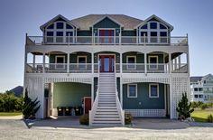Outer Banks Vacation Rentals | Salvo Vacation Rentals | Casa Verde #17 |  (8 Bedroom Semi-Oceanfront House)