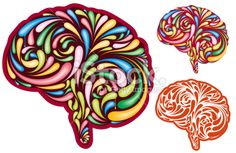 creative brain Royalty Free Stock Vector Art Illustration