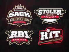 Survivor logos base survivor bat ball football baseball zeographics logo sport