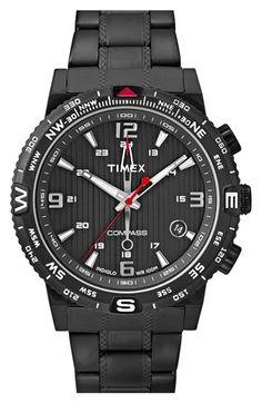Men's Timex 'Intelligent Quartz - Adventure Compass' Bracelet Watch