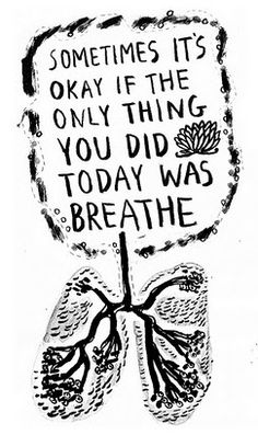Sometimes just breathing is a struggle for some...This is perfect for Cystic Fibrosis Awareness