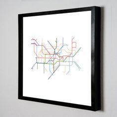 Minimalist tube map print ($15)
