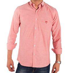 Camisa Oxford en rojo, de la firma Frog & Co.