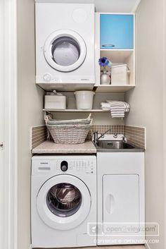 Laundry Cupboard, Utility Cupboard, Laundry Nook, Tiny Laundry Rooms, Laundry Room Organization, Laundry In Bathroom, Small Laundry Closet, Bathroom Storage, Storage Organization